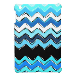 ocean chevron iPad mini case