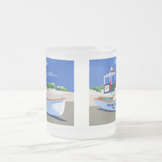 Ocean City Beach Patrol Frosted Glass Coffee Mug