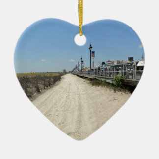 Ocean city Boardwalk Ceramic Ornament