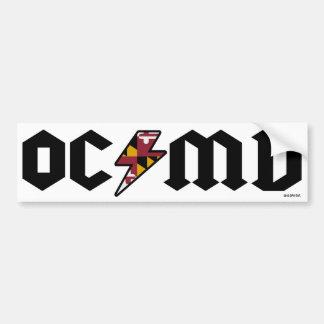 Ocean City Bumper Sticker OCMD Car Bumper Sticker