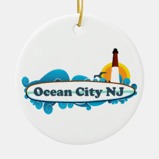 Ocean City Ceramic Ornament