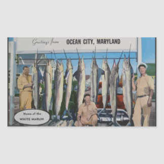 Ocean City, Maryland Home Of The White Marlin, Vin Sticker