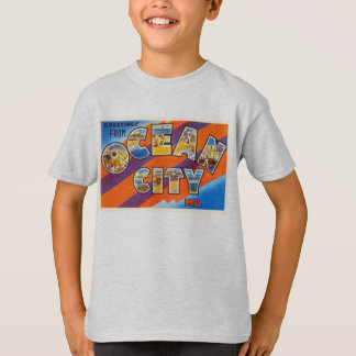 Ocean City Maryland MD Vintage Travel Postcard- T-Shirt