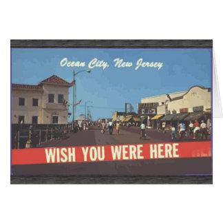 Ocean City, New Jersey, Vintage Greeting Card