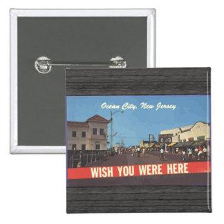 Ocean City New Jersey Vintage Pinback Button