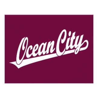 Ocean City script logo in white 21.5 Cm X 28 Cm Flyer