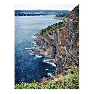 Ocean Cliffs - Newfoundland, Canada Postcard