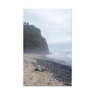 Ocean Coast Wrapped Canvas