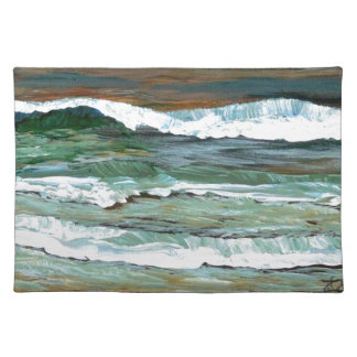 Ocean Comfort Beach Waves Surf Art Decor Gifts Placemat