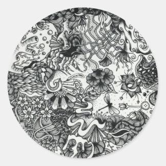 Ocean Coral Classic Round Sticker