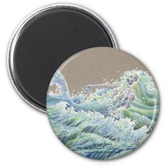 Ocean Deva, Ocean Deva Darlene P. Coltrainwww.... 6 Cm Round Magnet