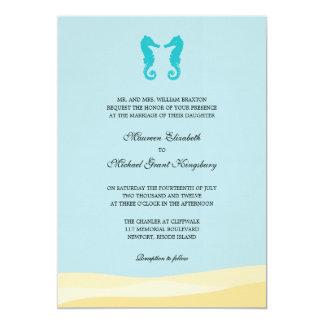 Ocean Double Seahorse Wedding Invitations