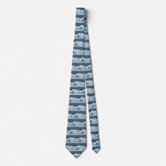 Ocean Dreams Waves Night Moonlit Sea Beach Surf Tie
