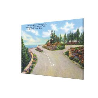 Ocean Drive Double Deck Road View Canvas Print