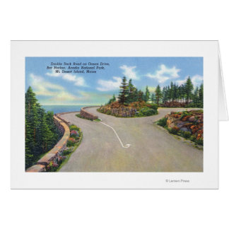 Ocean Drive Double Deck Road View Greeting Card