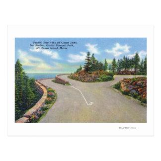 Ocean Drive Double Deck Road View Postcards
