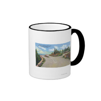 Ocean Drive Double Deck Road View Ringer Mug