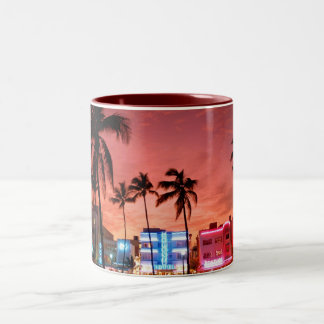Ocean Drive - Miami Beach Skyline Coffee Mug