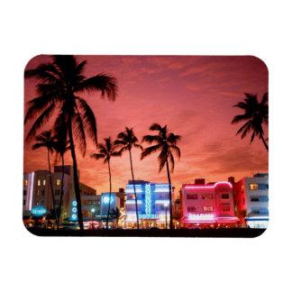 Ocean Drive Miami Beach Skyline Magnet