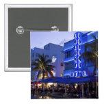Ocean Drive, South Beach, Miami Beach, 2 15 Cm Square Badge