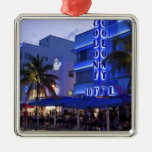 Ocean Drive, South Beach, Miami Beach, 2 Silver-Colored Square Decoration