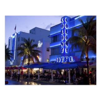 Ocean Drive, South Beach, Miami Beach, 2 Postcard