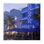 Ocean Drive, South Beach, Miami Beach 2 Small Square Tile