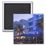 Ocean Drive, South Beach, Miami Beach, 2 Square Magnet