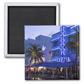 Ocean Drive, South Beach, Miami Beach, 2 Square Magnet