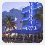 Ocean Drive, South Beach, Miami Beach, 2 Square Sticker