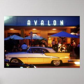Ocean Drive, South Beach, Miami Beach, Poster