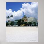 Ocean Drive, South Miam Beach, Miami - Florida Poster