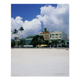 Ocean Drive, South Miam Beach, Miami - Florida Poster