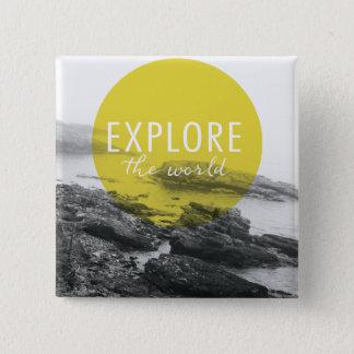Ocean | Explore The World Quote 15 Cm Square Badge