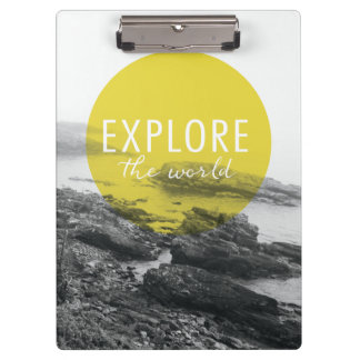 Ocean | Explore The World Quote Clipboard
