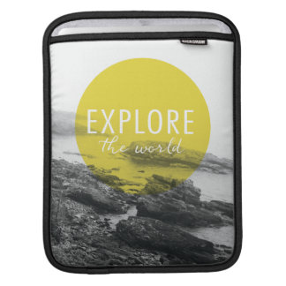 Ocean   Explore The World Quote iPad Sleeve
