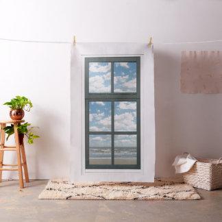 Ocean Faux Window View Fabric