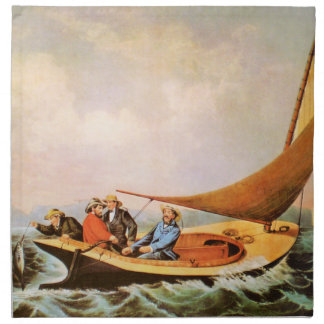 Ocean Fishing Cloth Napkins