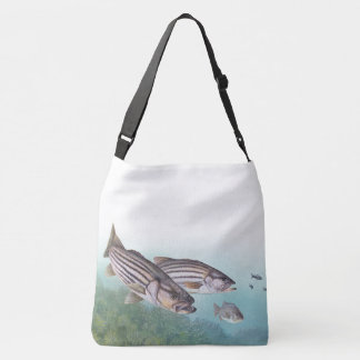 Ocean Fishing Striped Bass Fish Tote Bag