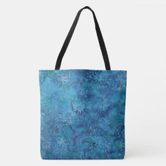 Ocean Floor Batik Tote Bag