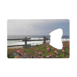 Ocean Flowers Credit Card Bottle Opener