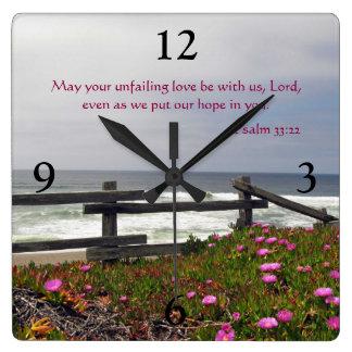 Ocean Flowers Unfailing Love Wall Clock