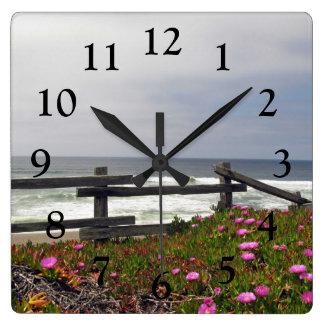 Ocean Flowers Wall Clock