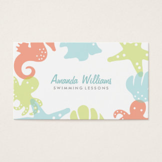 Ocean Friends Swim Lessons Business Cards