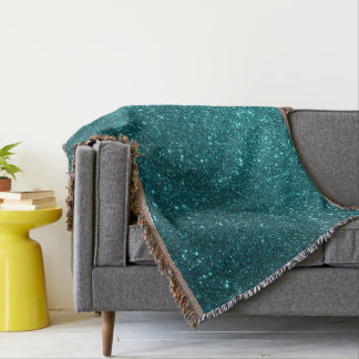 Ocean Glitter Throw Blanket