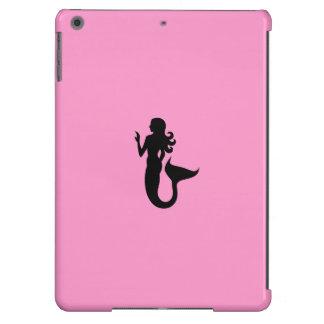 Ocean Glow_Black-on-Pink Mermaid iPad Air Cases