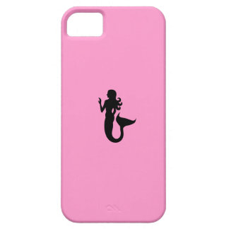 Ocean Glow_Black-on-Pink Mermaid iPhone 5 Covers