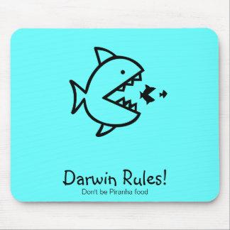 Ocean Glow_Darwin Rules! Mouse Pad