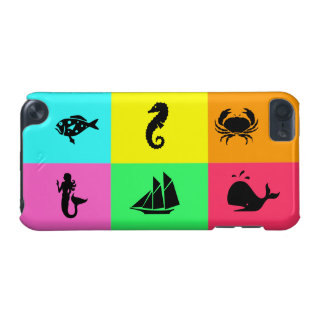 Ocean Glow_nautical themed_color block party iPod Touch (5th Generation) Covers