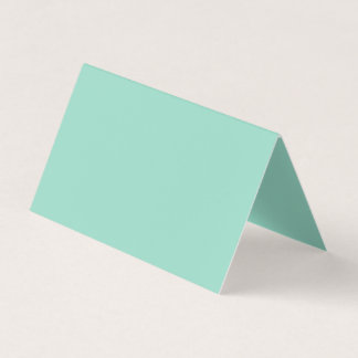 Ocean Green Colour Business Card